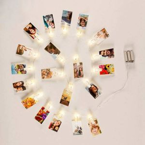 holiday lighting new product 20 LED Fairy Copper Wire Lights Inside LED Photo Clip String Lights