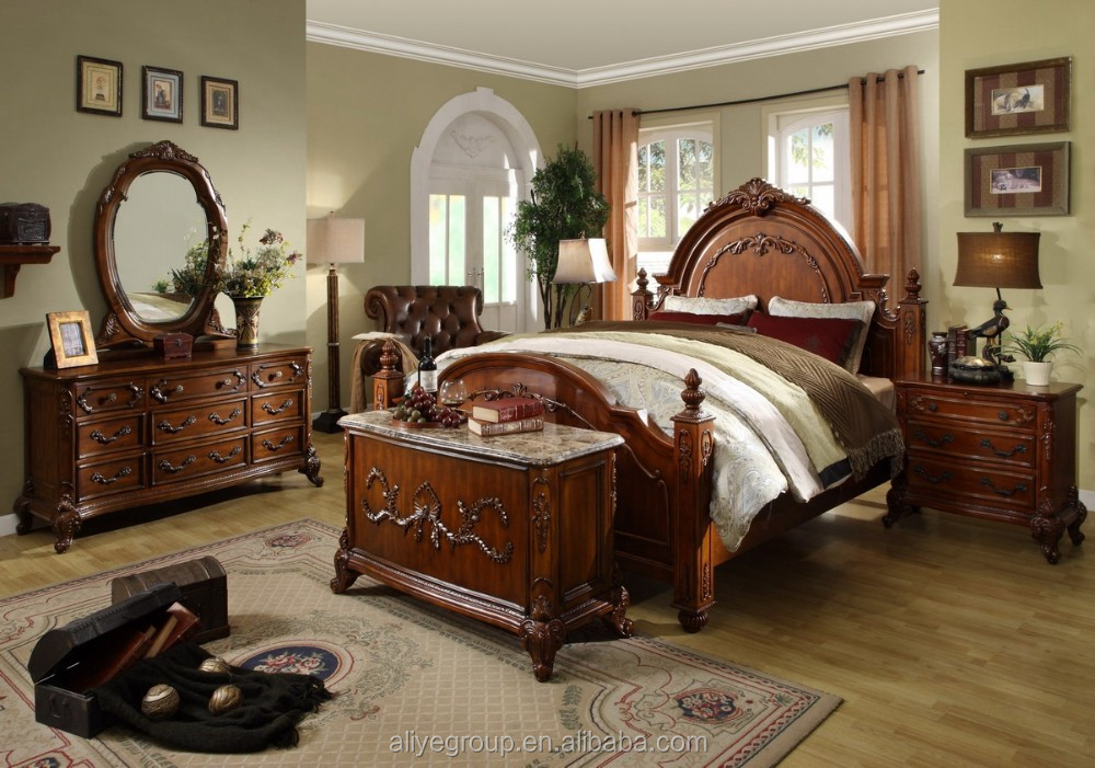 Mm5-dormitorio Muebles Tipo Antiguo Trineo/dormitorio Set Nuevo ...