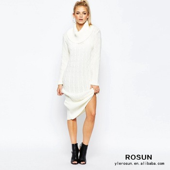 Beige Oversized Trui.Oversized Chunky Cable Knit White Sweater Dress Buy Sweater