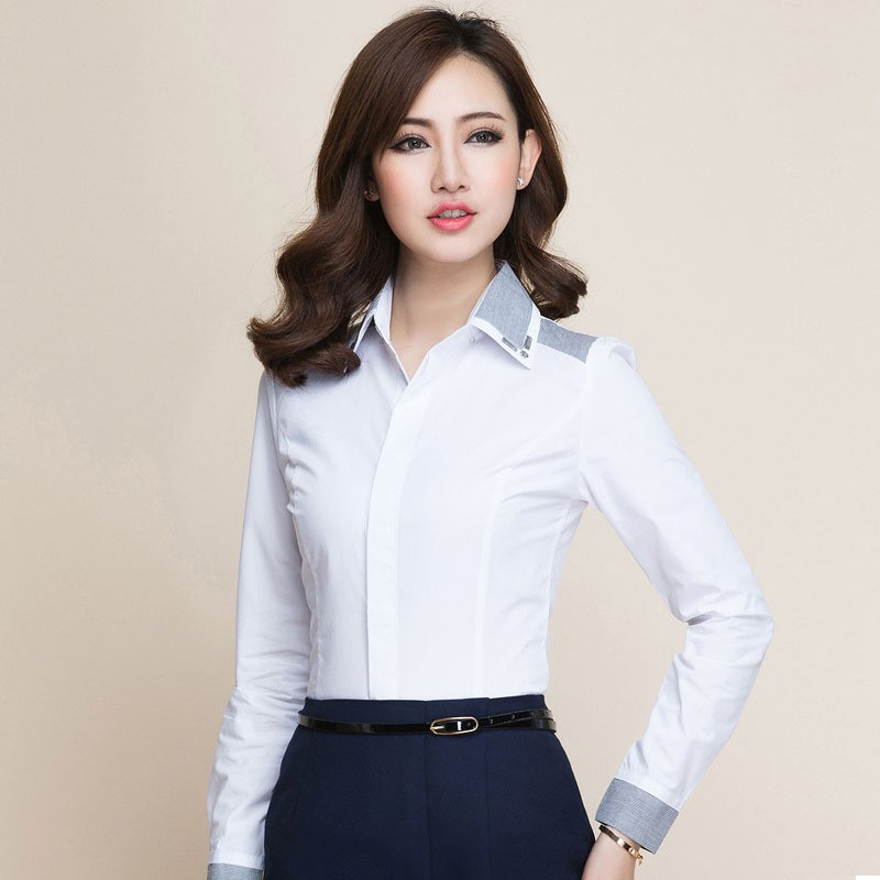 2017 New Las Office Wear Blouse Shirt Formal Design For