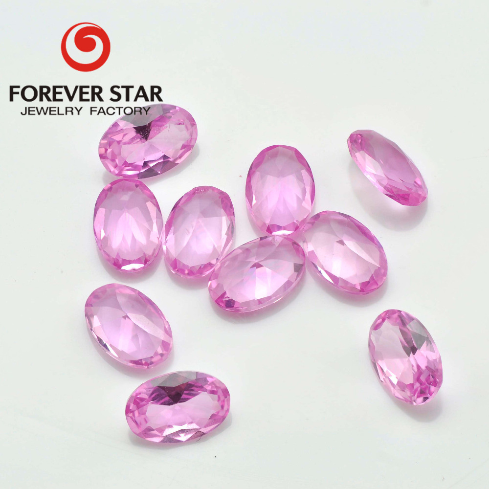 2# Color Pink Sapphire Synthetic Corundum Stone Price Wholesale