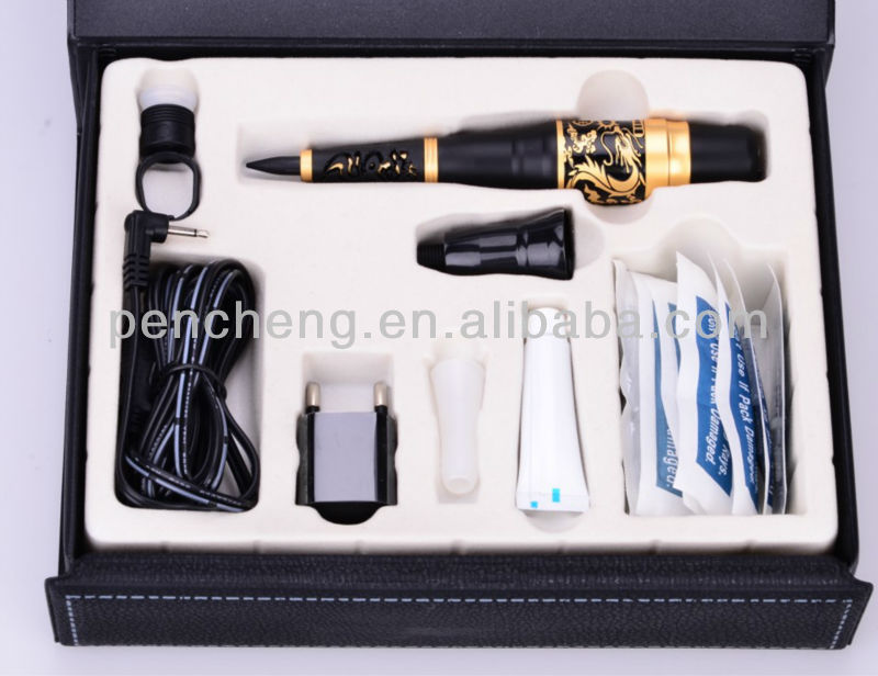 Deluxe Professional Permanent Makeup tattoo kit/pen & dragon on the pole