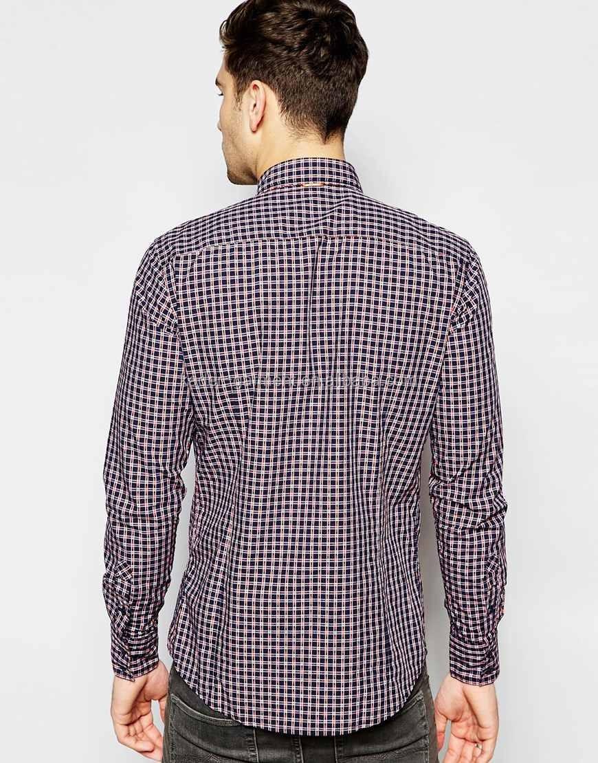 Shirt design images 2017 - Check Slim Fit Shirt New 2017 Casual Plaid Shirt Design For Men