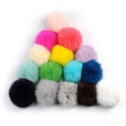 Fast delivery 8cm rabbit fur ball pompoms fluffy for shoes