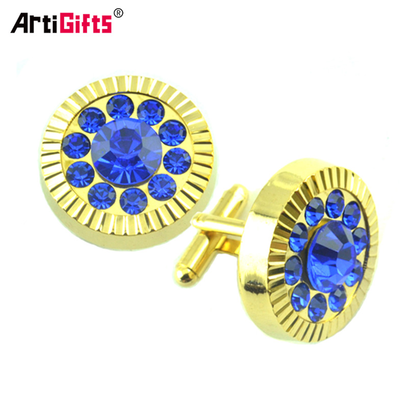 Oem Manchetknoop Fabrikant Custom Metal Blank Diamant Luxe Manchetknopen