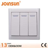 3 gang 1 way switch CE copper unique light switch plates