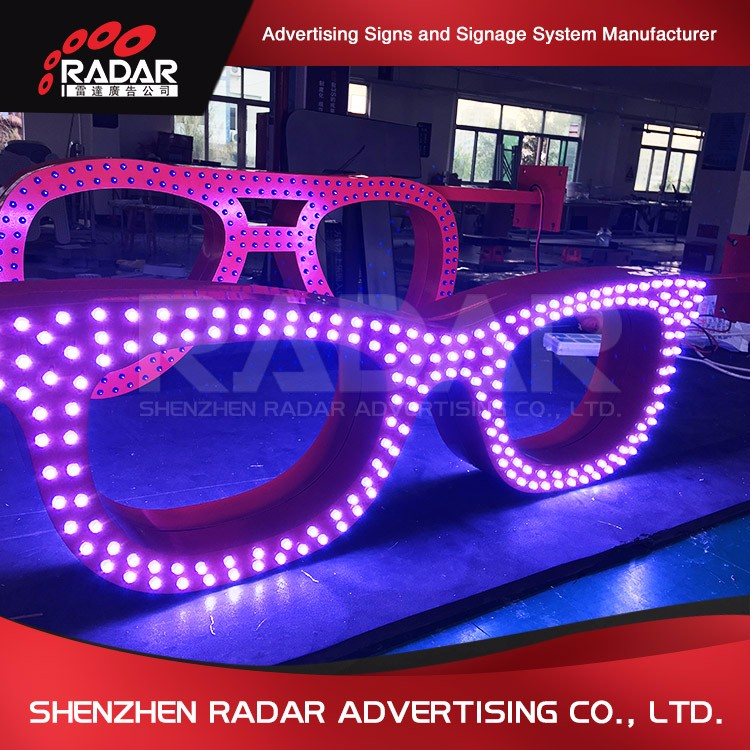 Accept customized led sign font for Advertising Light Boxes
