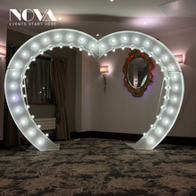 Inflatable Led Heart Arch For Wedding Decoration/ Heart Shaped Archway