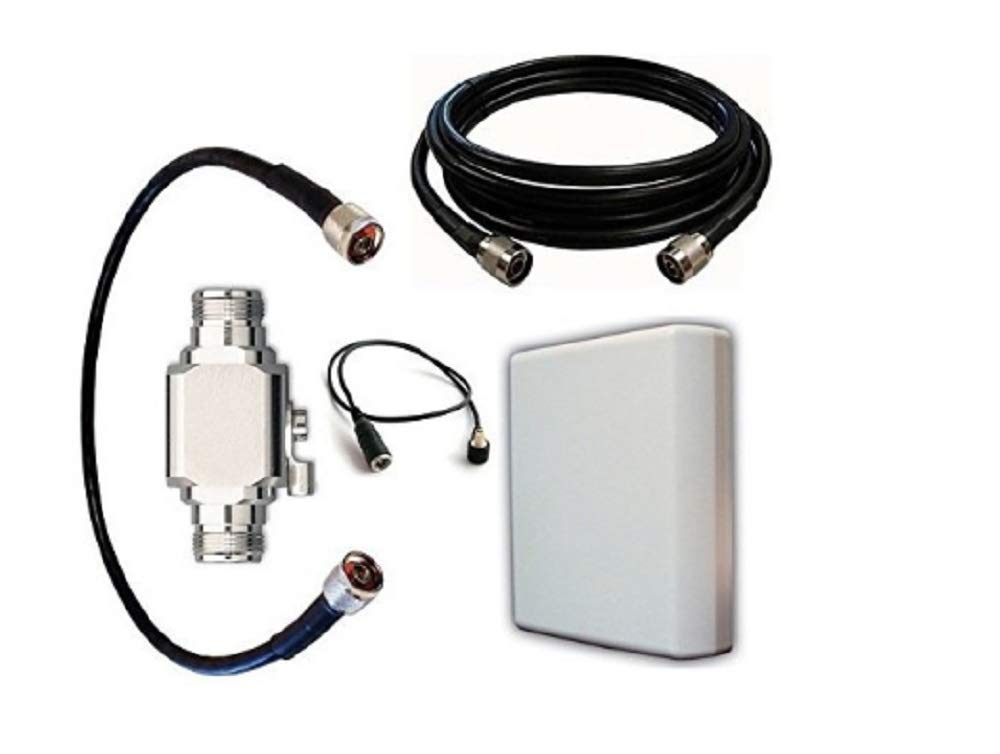 High Power Antenna Kit for at&T Nighthawk Hotspot (Netgear Atlas M1) with Panel Antenna and 50 ft Cable