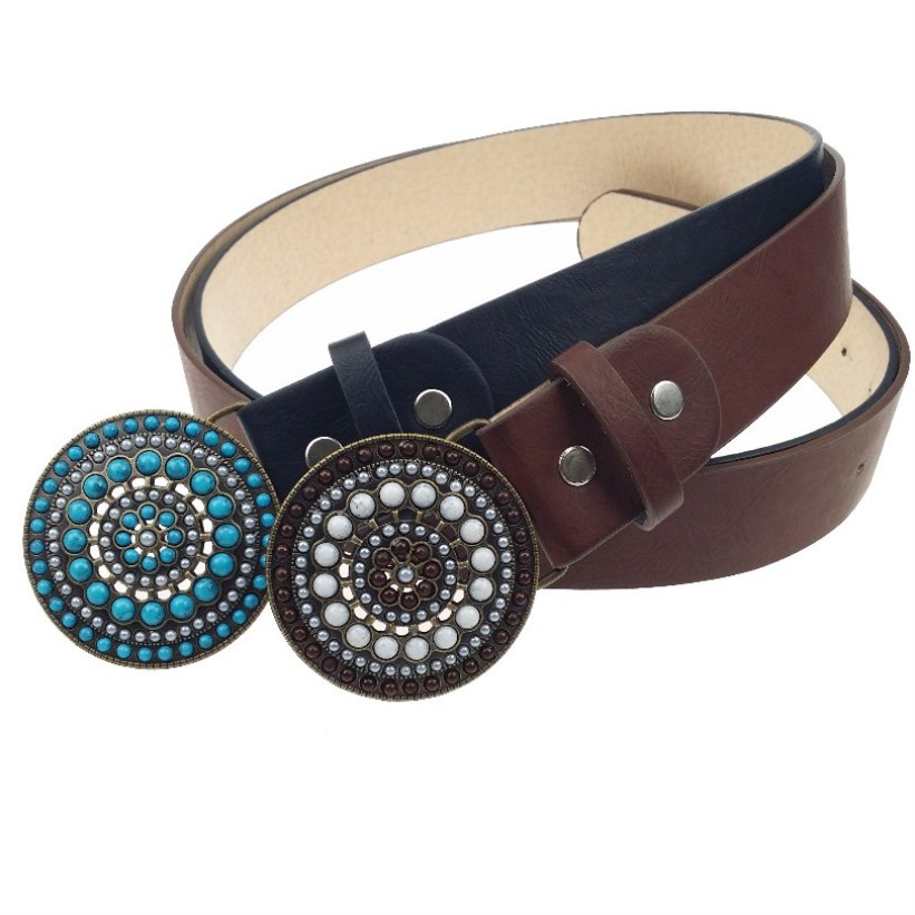 f4ceb8f1ea7c Get Quotations · Suede Leather Belts For Women New Arrival Womens Fashion  Belts With Blue Stone 1163 4