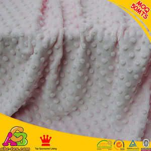 Wholesale Of Polyester Dot Design Minky Velour