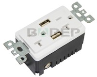 Bas20-2usb American 20a 125v Pc Utility Electrical Floor Plug ...