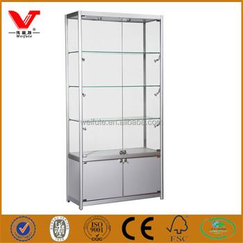 tall glass keyword cabinet accent henley display wayfair