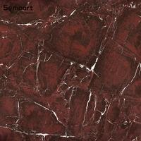 Red Marble Design Polished Glazed Porcelain Floor Tiles