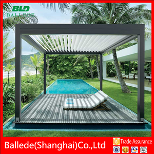 China supplier aluminium electric pergola awning louvers