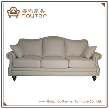 Luxury French Neo-Classical Vintage white French Couch