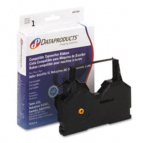 Dataproducts : R7300 Typewriter Ribbon, Film, Black -:- Sold as 2 Packs of - 1 - / - Total of 2 Each