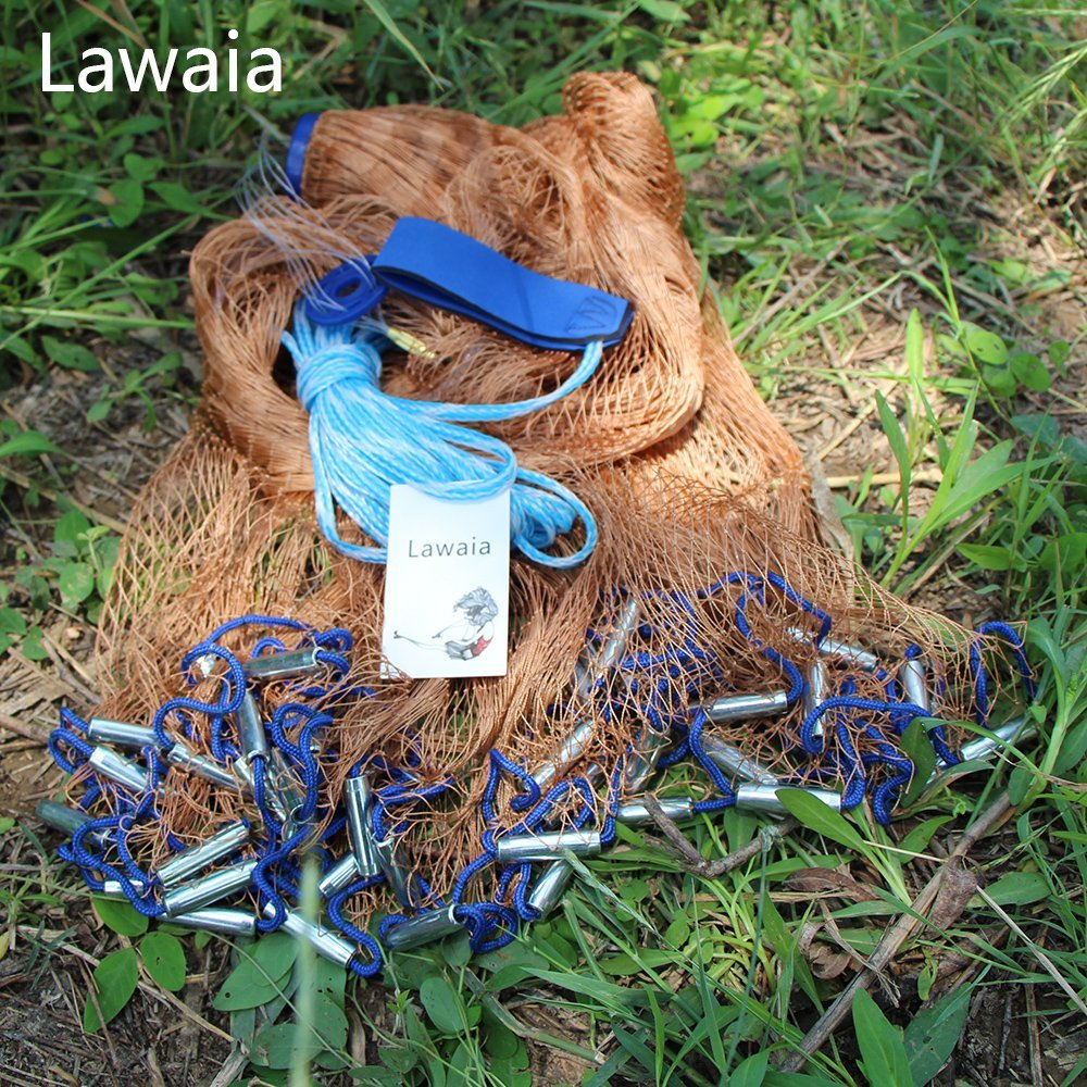 Lawaia fishing casting net cast iron net 3.9/4.9/5.9ft/6.85ft/7.85ft/8.85ft/9.8ft/10.8ft/11.8ft