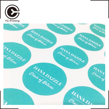 Personalize waterproof embossed transparent clothing sticker label