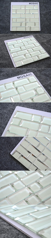 - Bangladesh Indonesia Clear White Glass Mosaic Tile Backsplash