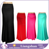 2016 Summer casual elastic waist long skirt women cotton slim fit black skirt