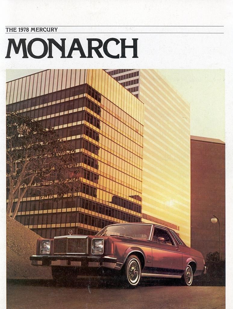 1978 MERCURY MONARCH COLOR SALES BROCHURE - 78-207 - EXCELLENT - USA !!
