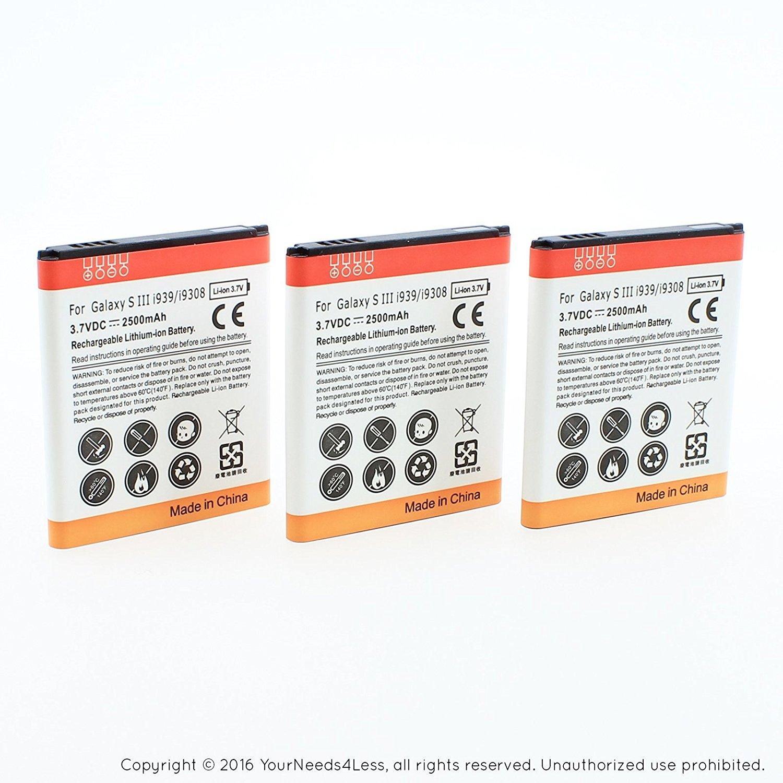 YN4L 3 X 2500mAh Replacement Batteries for Samsung Galaxy Avant SM-G386T ; G386 Premier ; i9260 ; EB-L1L7LLA ; i939