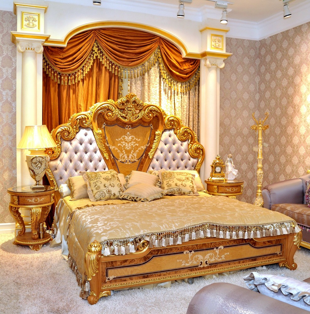 luxury baroque style double bed king size with royal