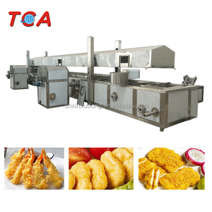 Chicken nuggets continuous fryer machine