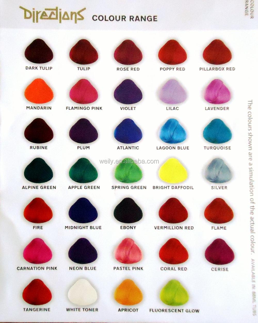 cheveux couleur flamme semi permanent cheveux colorant - Coloration Cheveux Semi Permanente