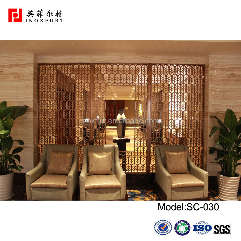 Laser Cut Home Living Furniture Metal Room Divider / Decorative ...