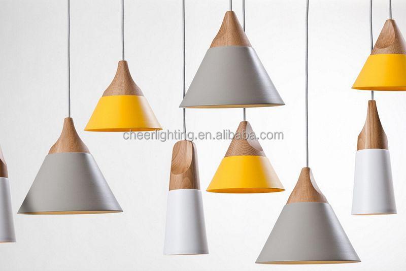 Modern Slope Pendant Lamp Yellow /white Shade