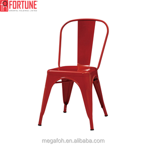 Nice design red metal restaurant dining chairs for sale(FOH-BCC20)