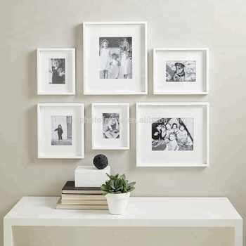 Modern Fashion Wall Hanging White Photo Frames Set Buy Hanging