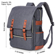 Vintage Laptop Backpack for Women Men School College Backpack with USB Charging Port