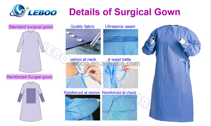 Iso/ce Disposable Sterile Surgical Gown - Buy Disposable Sterile ...