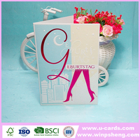 Customized nice hot foil handmade greeting card designs