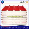China export High quality color steel sandwich panel, low price PU/EPS sandwich roof panel
