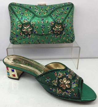 Italian Stones Party Shoes And Bags Shoe Bag Matching Sets For Women Guangzhou Factory