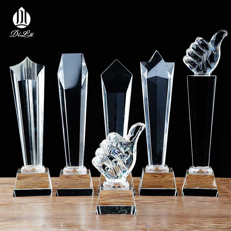 FREE SAMPLE Customized blank k9 crystal golf diamond microphone acrylic trophy award / crystal ball sports dance book trophy