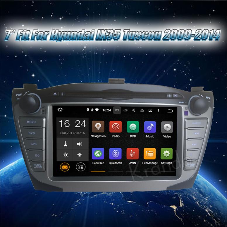 "Krando Android 7.1 7""car audio radio gps multimedia for Hyundai IX35 TUSCON 2009-2014 stereo system player wifi bt KD-HX791"