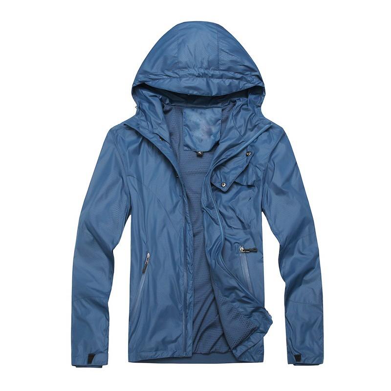Wholesale Waterproof Hooded Sports Plain Mens Windbreaker ...
