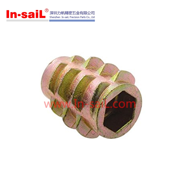 Zinc Alloy Threaded Inserts for wood