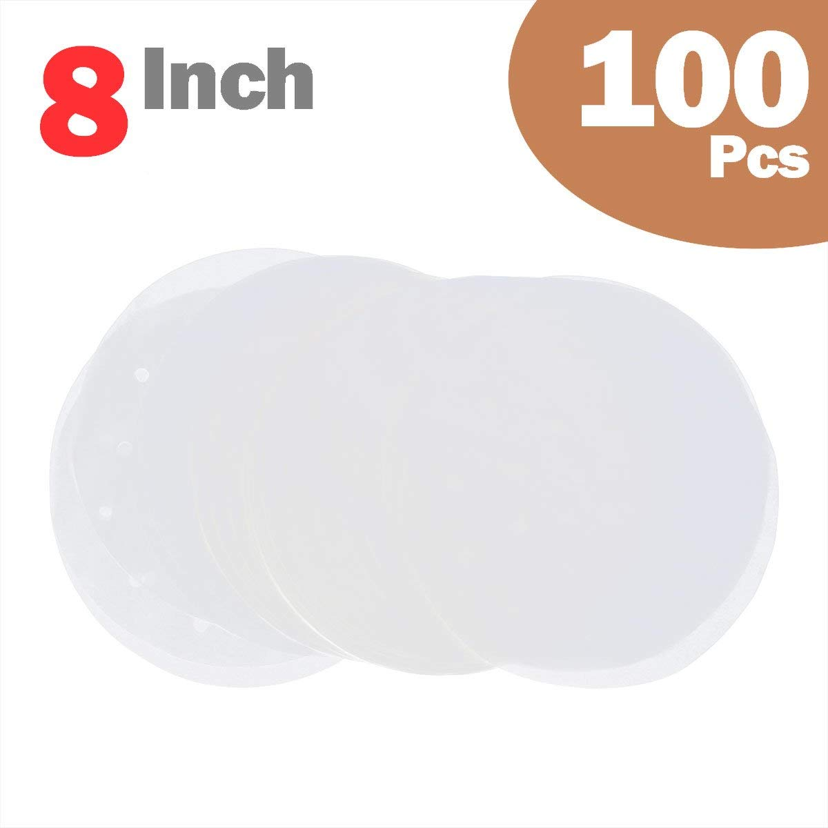 Get Quotations  C2 B7 Disposable Non Stick Parchment Papers Liners Sheets For Bamboo Steamer Round Cake Pans Air Fryer