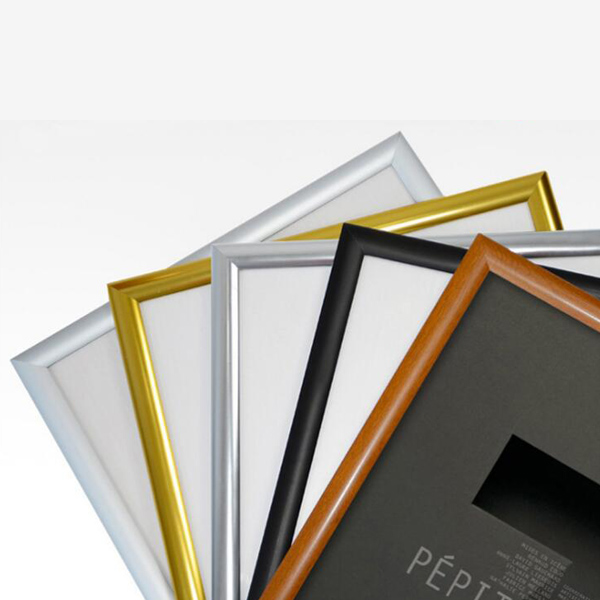 New promotion aluminum photo frame floor price black photo frame