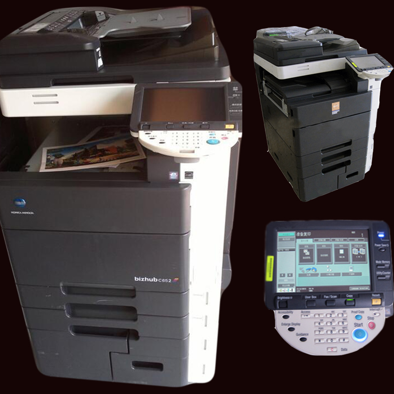 Used digital Laser Reconditioned copier printer scan copier machines For Konica Minolta Bizhub C652 C552 C452 Printers