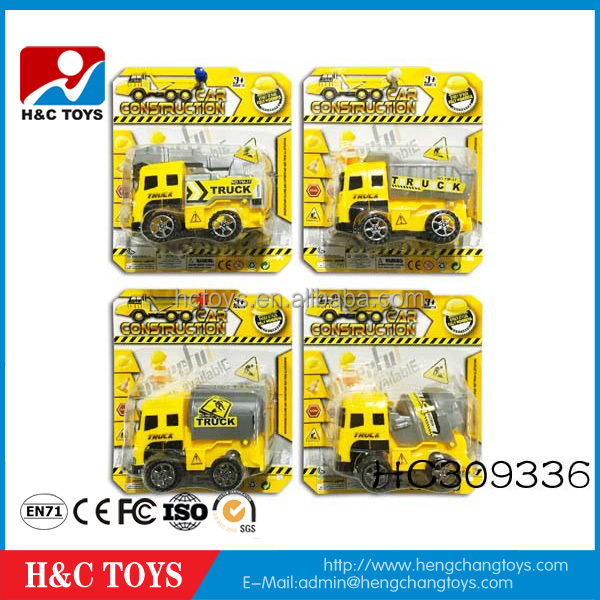 Hot sale plastic mini pull back construction toy truck/ car toys for kids HC309336