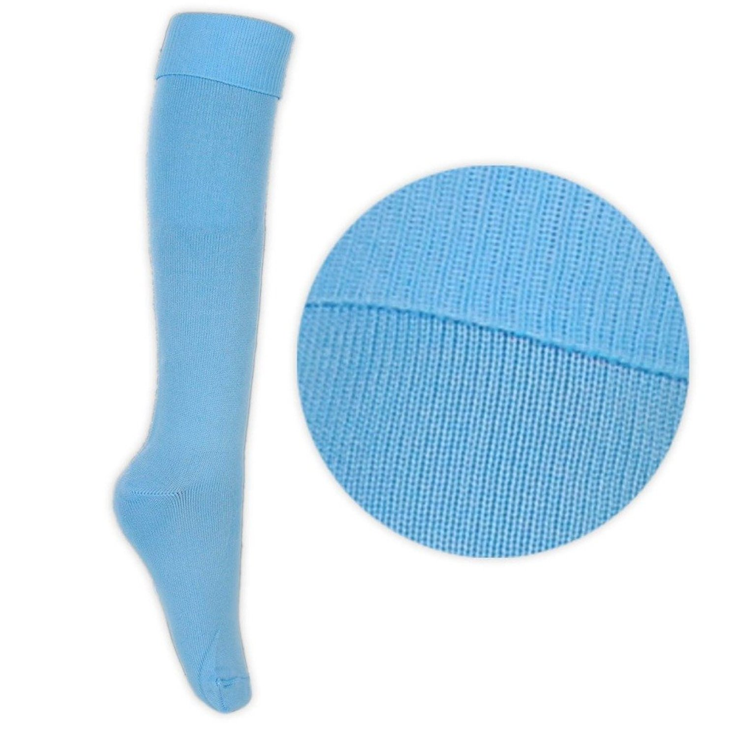 Sports Socks Sky Blue Boys or Girls Football Hockey