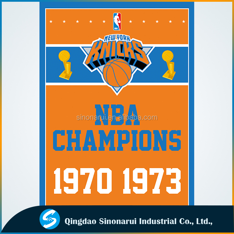 National American basketball league champions New York Knicks banners
