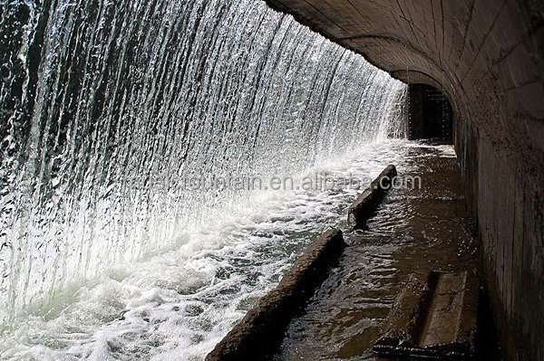 Outdoor Artifiticial Round Stone Wall Waterfall Fountain For Sale